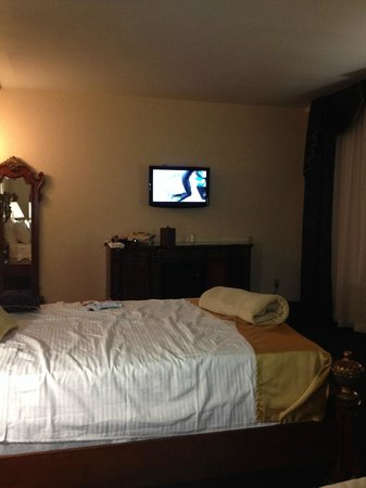 Floridan Palace Hotel: Room showing size of TV from the far bed