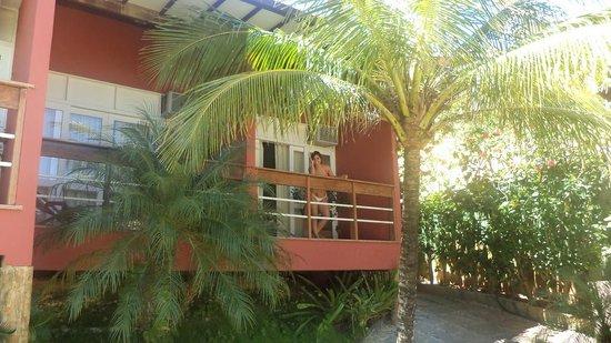 Bon Bini Pousada: Vista del balcón de un cuarto