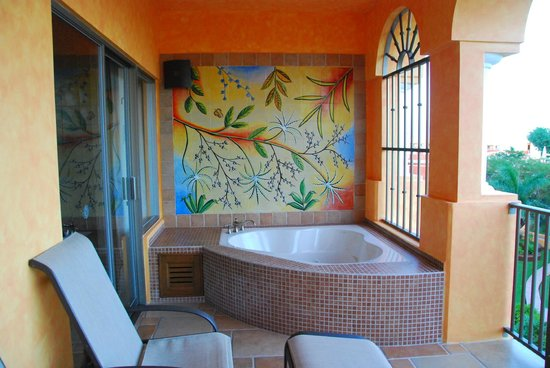 The Royal Haciendas All Suites Resort & Spa: Balcony hot tub (C417)