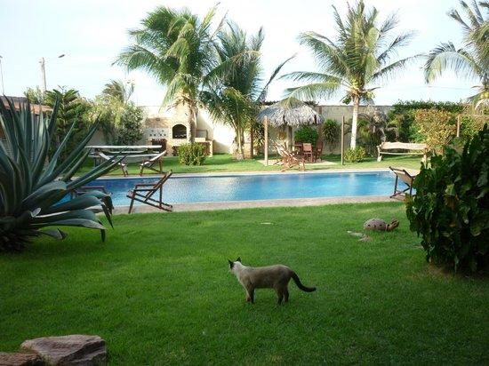 Residenza Canoa: il giardino con piscina