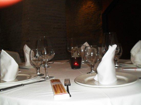 Un tavolo apparecchiato al San Marco