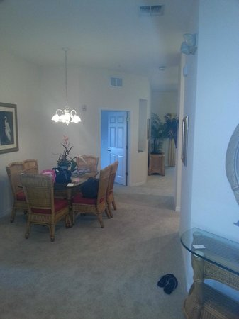 Bahama Bay Resort Orlando by Wyndham Vacation Rentals : Taken by front area. Dining area