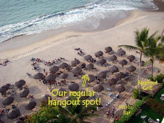 Hyatt Ziva Puerto Vallarta: Our beach area from our room