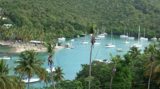 Marigot Palms Luxury Caribbean Guesthouse and Apartments: View from balcony