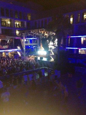 Ibiza Rocks Hotel: stage view