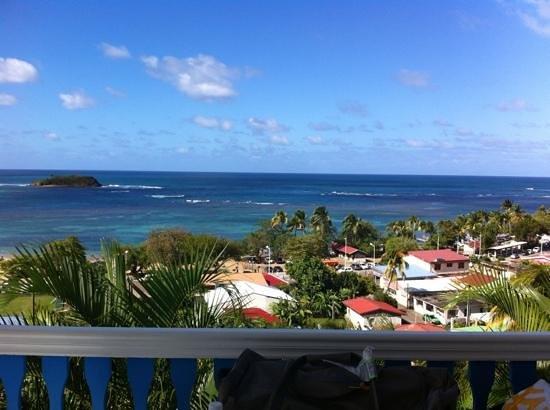 Hotel Le Manguier: vue de la terrasse : imprenable :)