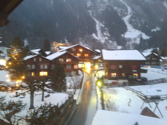 Hotel Bernerhof & Residence: Sun goes down, lights go on, view from our room