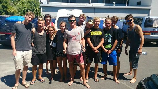 Pacific Coast Lodge and Backpackers : Farewell to the Germans!