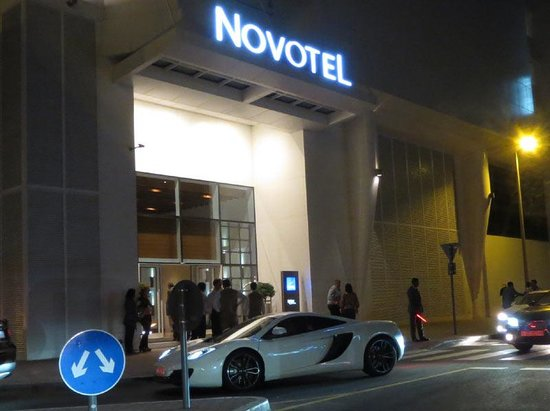 Novotel Dubai Al Barsha: McLaren car on the street