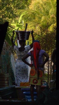 Club Med Cap Skirring: dans un village, l'heure de l'eau