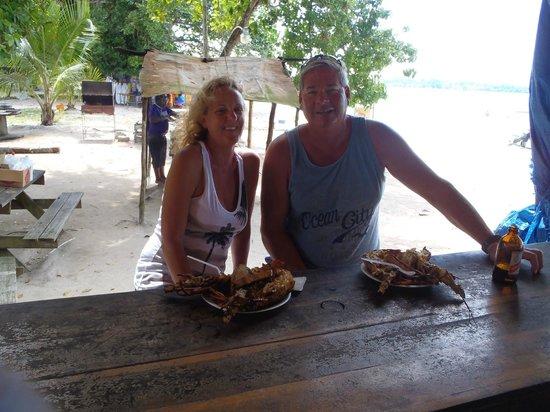 Sunscape Splash Montego Bay : Lobster at sunset negril...set up for second timers