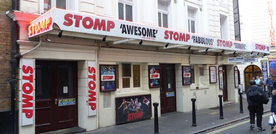 Stomp in the West End Theatre district