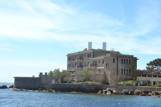 Hotel Le Delos: L'hôtel en repartant en bâteau