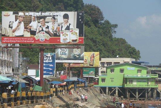 Kawthoung port: waterfront