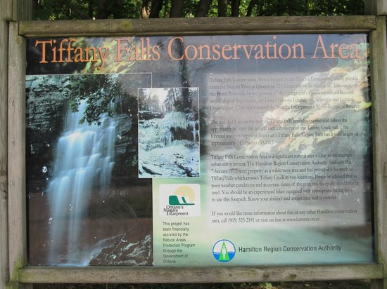 Tiffany Falls Conservation Area : Informational Sign