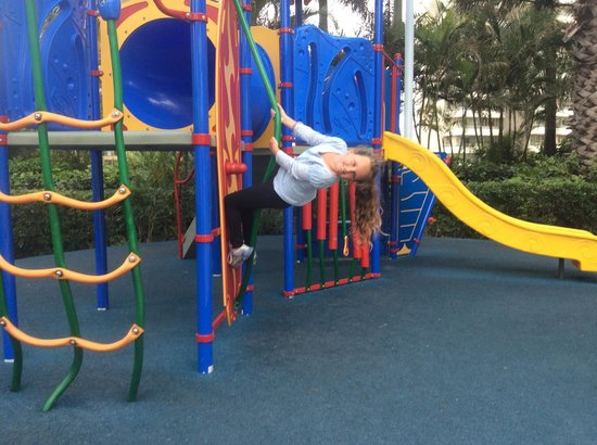 Mantra Towers of Chevron: beaches in the sky playground ( and my Gracie showing off :P )