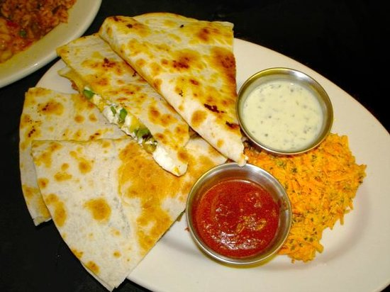 Spooner Market and Grill: Asparagus and goat cheese quesadillas