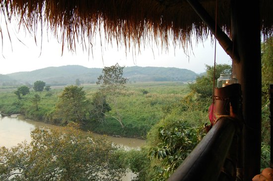 Four Seasons Tented Camp Golden Triangle : View from Burma Bar