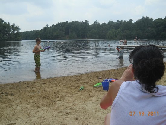 Pinewood Lodge Campground: swimming the best part of a hot day