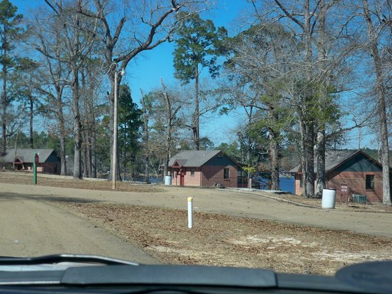 Paul B. Johnson State Park: Some of the cabins for rent (yes, they are brick)