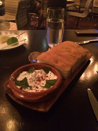 A Voce: Appetizer, ask for Olive Oil & add it to the cheese cream, it makes is taste even better