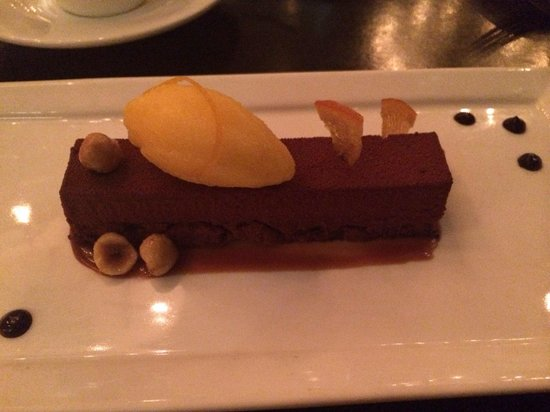A Voce: Hazelnut mousse, a heavy dessert. I would recommend sharing it as it may be a bit overwhelming f