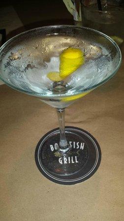 Bonefish Grill: Cold Vodka Martini with a Twist