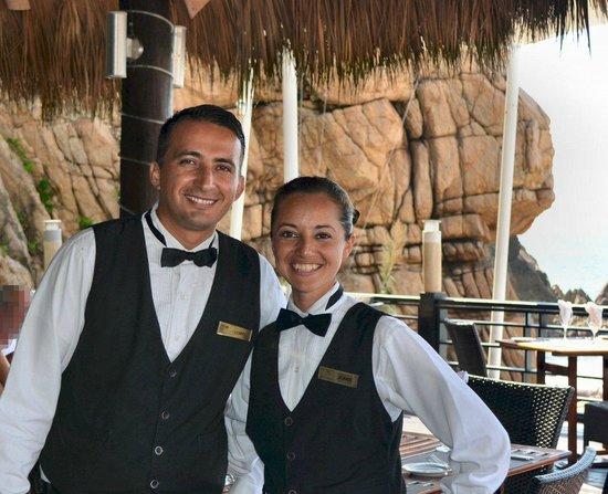Hyatt Ziva Puerto Vallarta: Lenny and Joanna ready to greet you for lunch at the Seaside Grill
