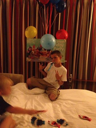 Beaches Negril Resort & Spa: Birthday set-up for the 13 year old