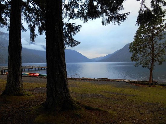 Lake Crescent Lodge: View of the lake from the cottages