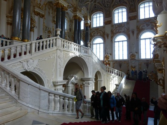 State Hermitage Museum and Winter Palace: Staircase at the Hermitage