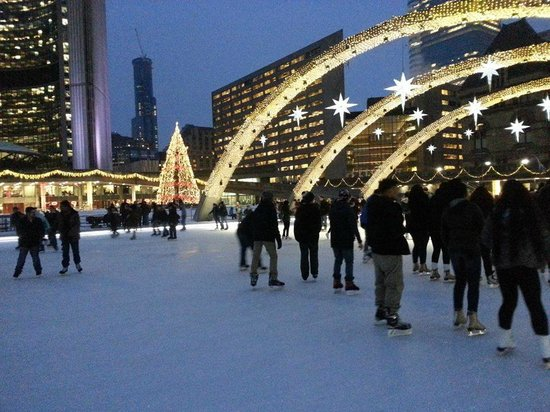 Nathan Phillips Square - romantic date night to remember!