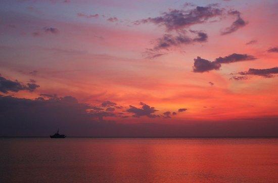 Sunset seen from Long Beach
