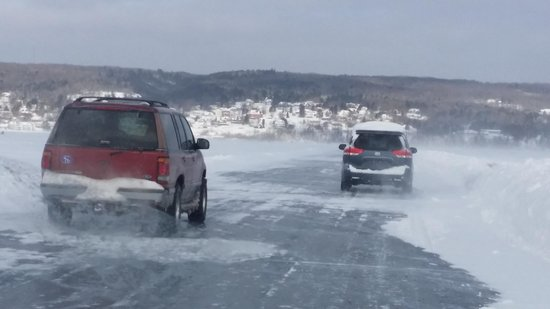 The Inn on Madeline Island: Getting passed on the Ice Road