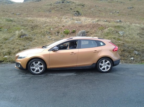 Wrynose Pass: our car The Volvo V40 Cross Country