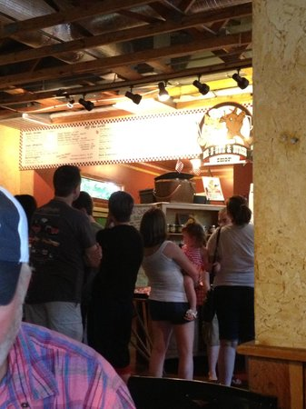 Danna's BBQ & Burger Shop: The front counter and the order line. be patient