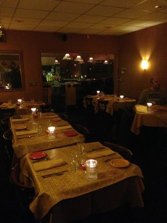 The intimate dining room at The Jackson Grill