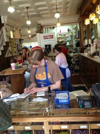 Woods Soda Fountain: as you walk in this is the front counter