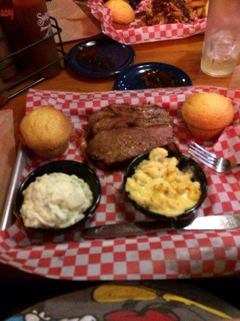 Famous Dave's: Brisket Mac cheese potato salad
