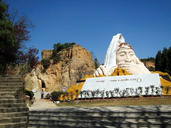 Luliang Colored Sand Forest : Sand sculpture