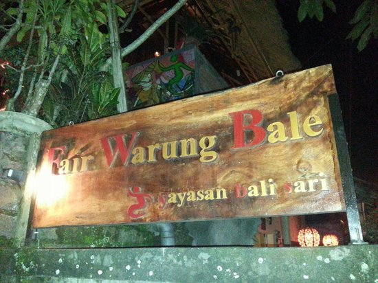 Fair Warung Balé - Fair Future Foundation : the signage infront of the resto