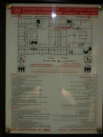 Grand Excelsior Hotel Deira: Map of the 1st floor