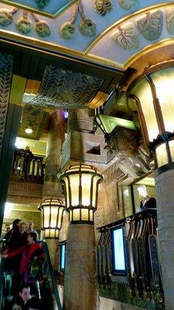 Egyptian escalator at Harrods in Knightsbridge