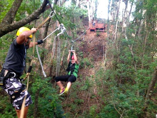 Piiholo Ranch Zipline: Zipping through the trees