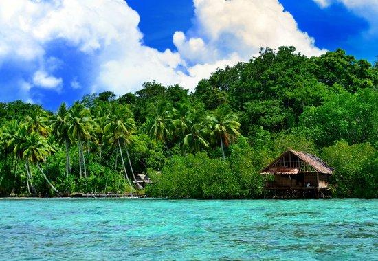 Raja Ampat, Indonesia: деревенька по пути