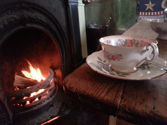 Ambledown Tea Rooms: by the fire