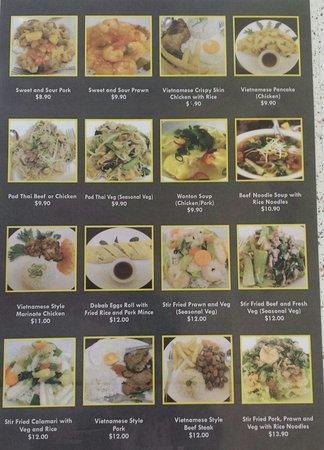 Dobab Vietnamese Kitchen: Menu (Back)