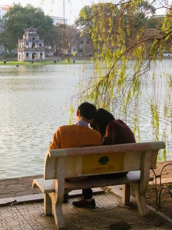 Lake of the Restored Sword (Hoan Kiem Lake): As romantic as it gets; by an inner city lake