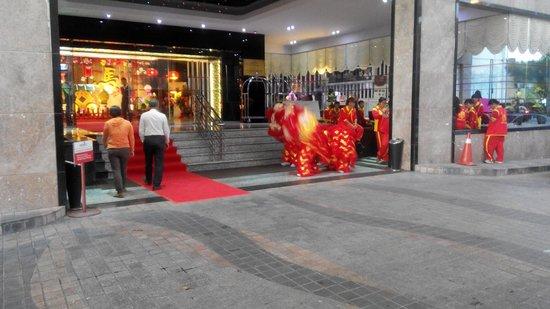 Meritz Hotel: Lion dance for local VIP dinner function