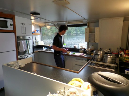 Doubtful Sound : Galley and Nico the chef.
